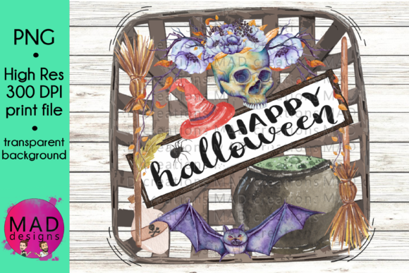 Happy Halloween Tobacco Basket Graphic Crafts By maddesigns718