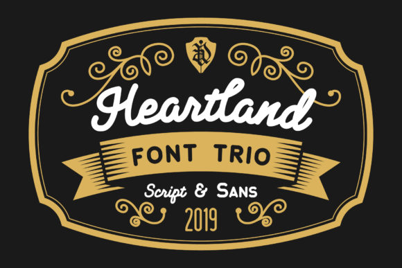 Print on Demand: Heartland Trio Script & Handwritten Font By NREY - Image 1