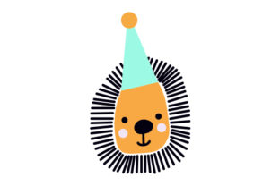 Lion with Party Hat Craft Design By Creative Fabrica Crafts