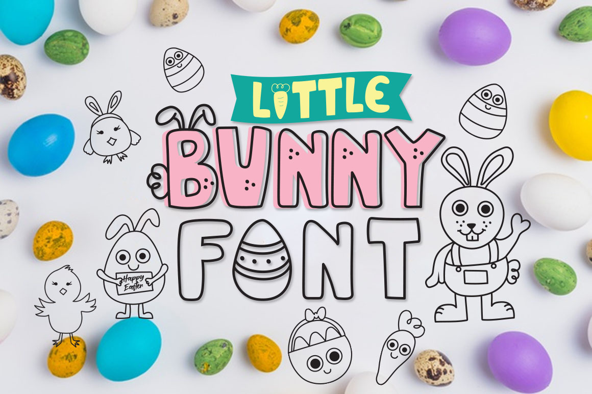 Download Free Little Bunny Font By Cute Files Creative Fabrica for Cricut Explore, Silhouette and other cutting machines.