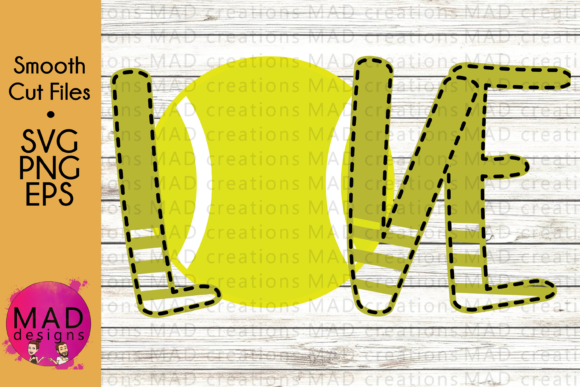Love Tennis Graphic Crafts By maddesigns718
