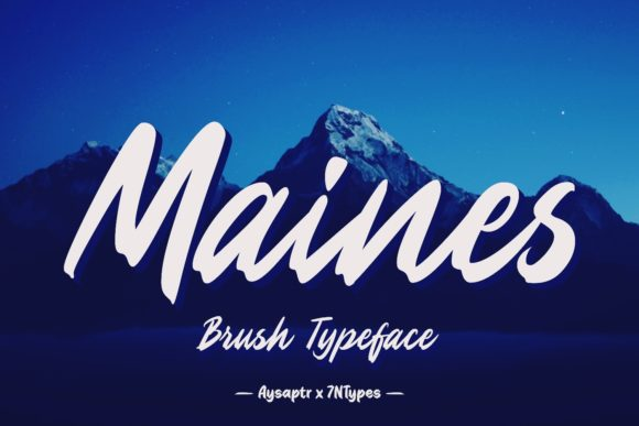 Maines Script & Handwritten Font By Aysa - 7NTypes