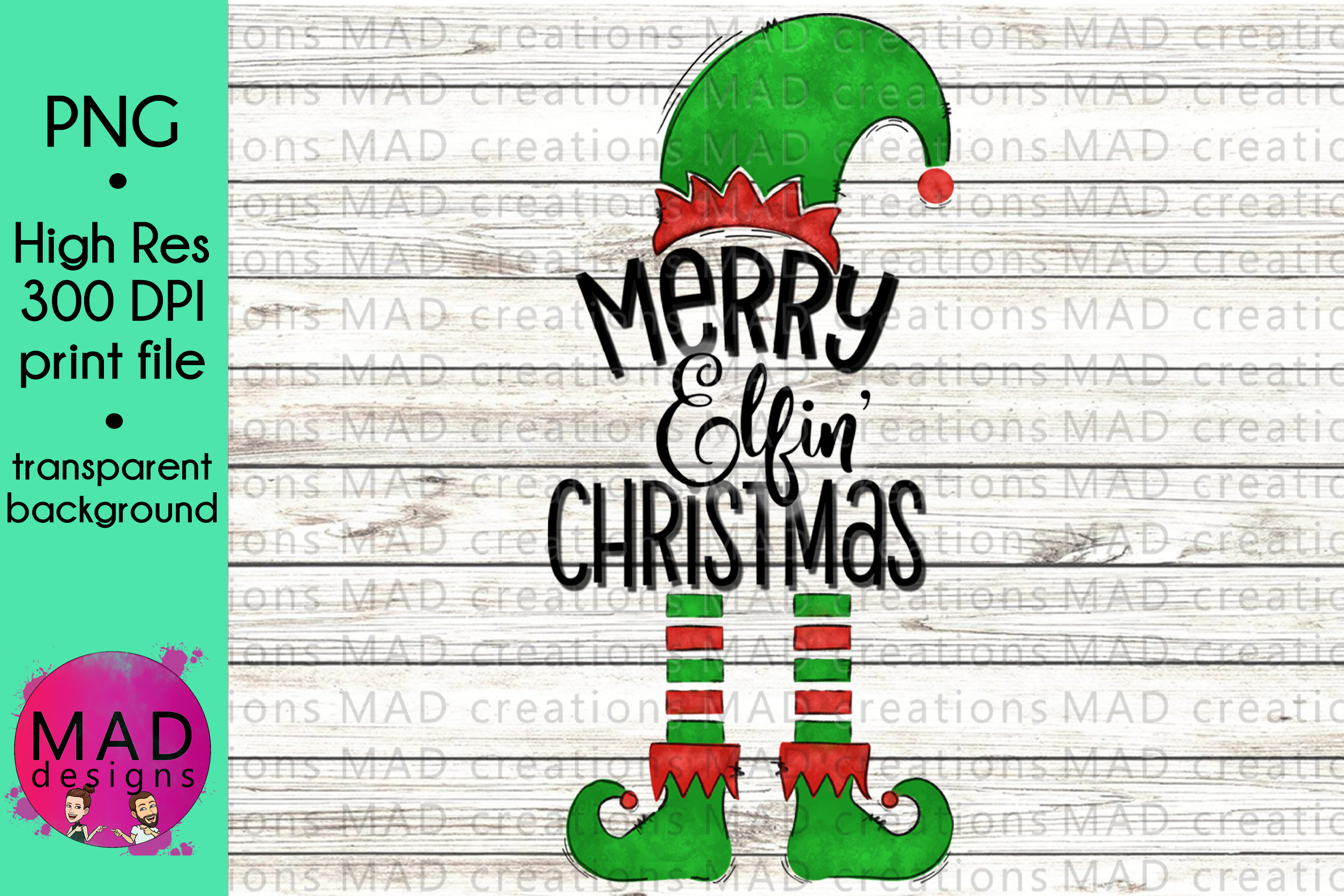 Download Free Merry Elfin Christmas Elf Graphic By Maddesigns718 Creative for Cricut Explore, Silhouette and other cutting machines.