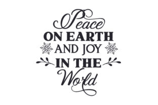 Peace on Earth and Joy in the World Craft Design By Creative Fabrica Crafts