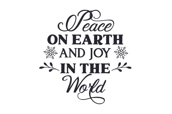 Peace on Earth and Joy in the World Craft Design By Creative Fabrica Crafts Image 1
