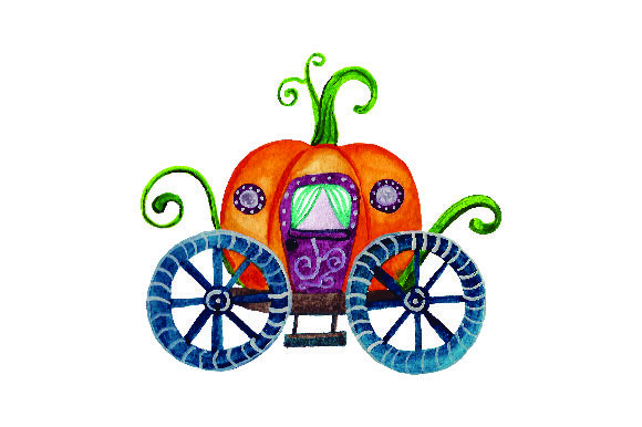 Pumpkin Carriage - Watercolor Thanksgiving Craft Cut File By Creative Fabrica Crafts