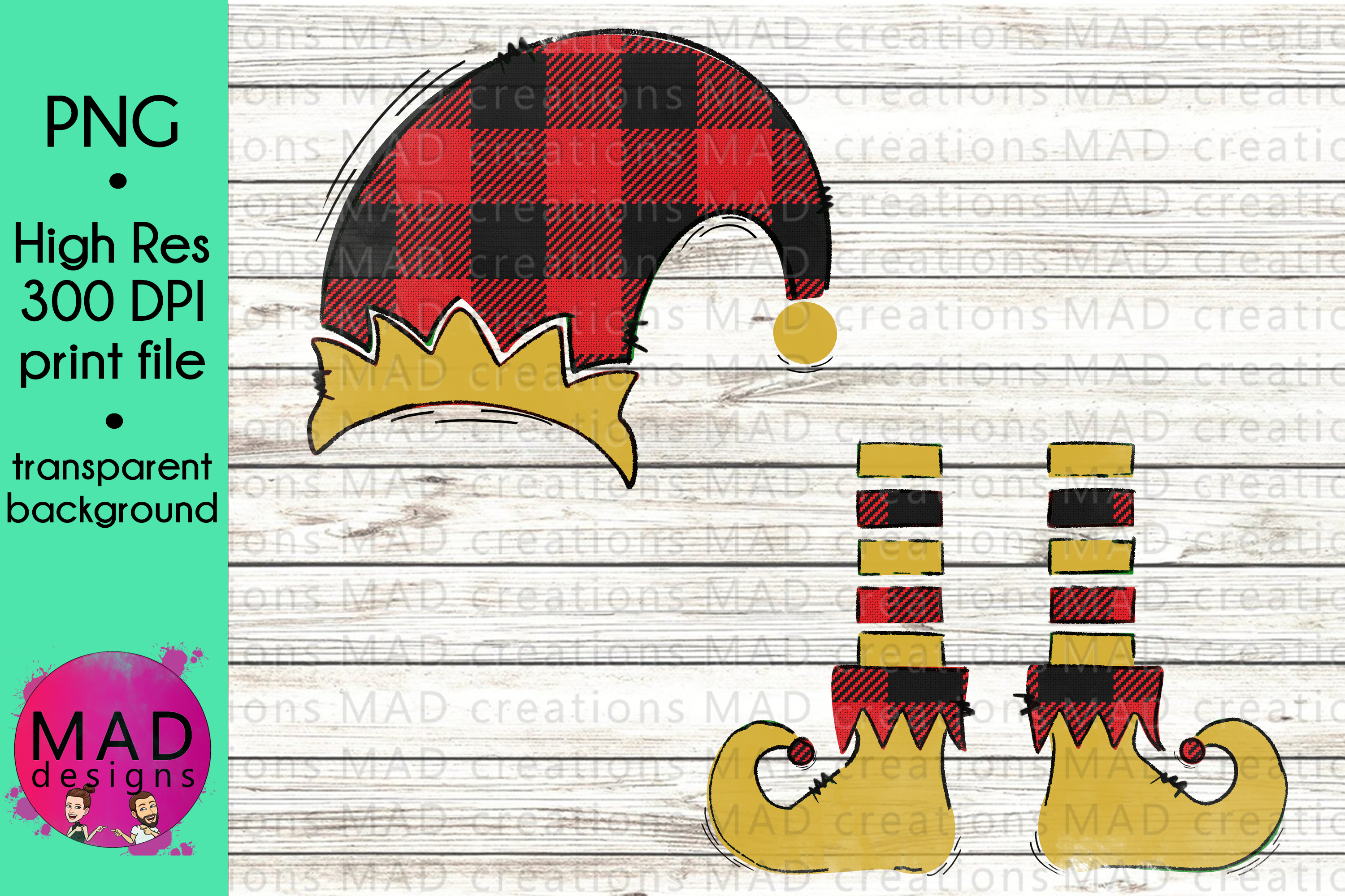 Download Free Buffalo Plaid Christmas Elf Graphic By Maddesigns718 Creative for Cricut Explore, Silhouette and other cutting machines.