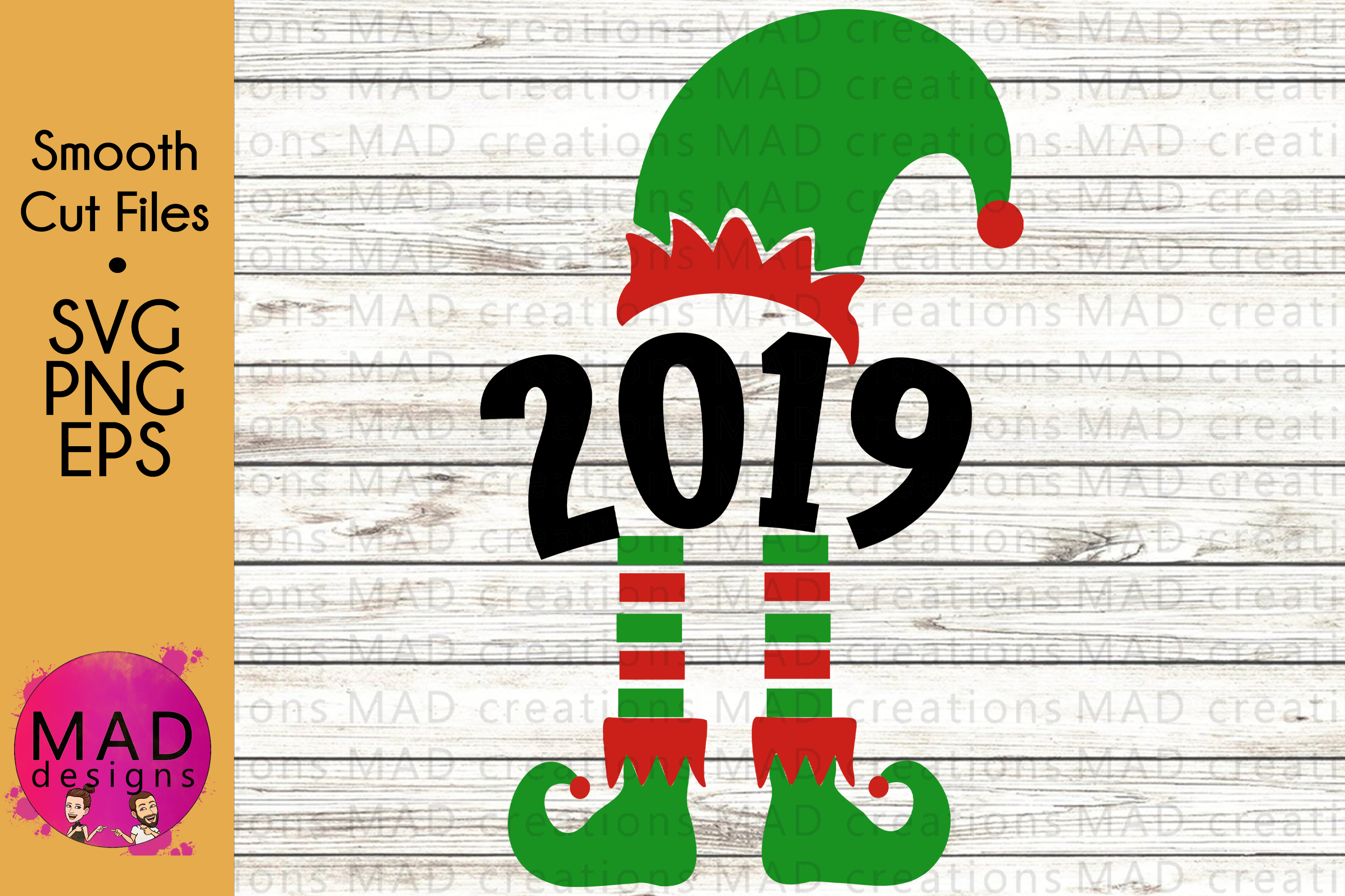 Download Free 2019 Christmas Elf Graphic By Maddesigns718 Creative Fabrica for Cricut Explore, Silhouette and other cutting machines.