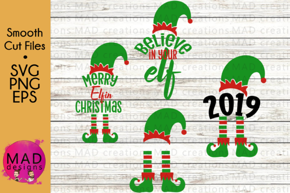 Download Free Christmas Elf Bundle Graphic By Maddesigns718 Creative Fabrica for Cricut Explore, Silhouette and other cutting machines.