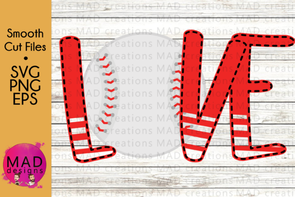 Love Baseball Graphic Crafts By maddesigns718