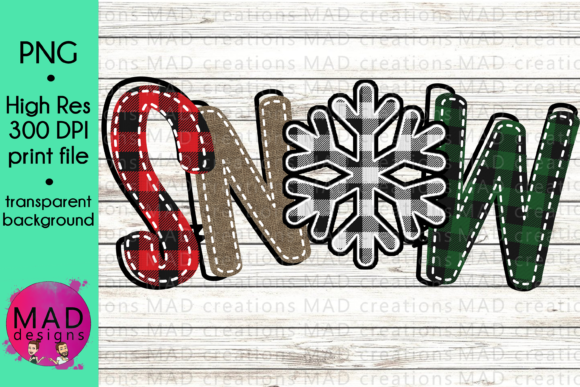 Download Free Snow Buffalo Plaid Snowflake Sublimation Graphic By SVG Cut Files
