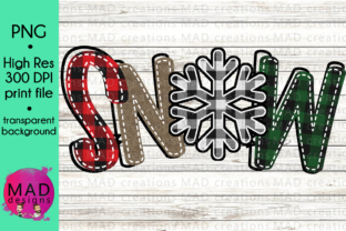 Snow Buffalo Plaid Snowflake Sublimation Graphic By maddesigns718