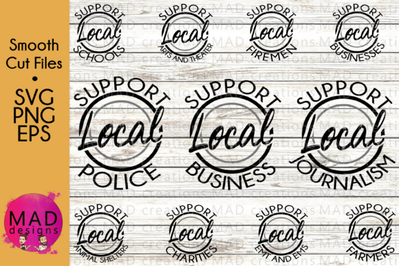 Support Local Everything Bundle Graphic Crafts By maddesigns718
