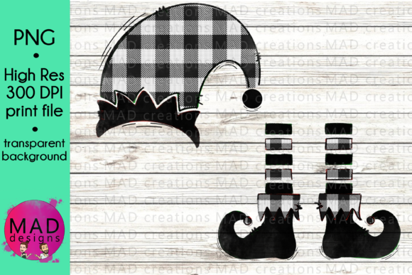 Buffalo Plaid Christmas Elf Graphic Crafts By maddesigns718