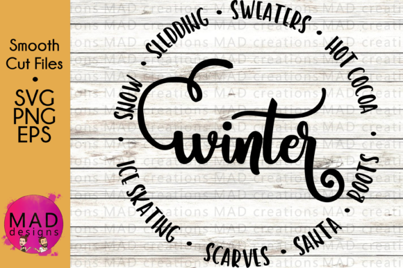 Winter Circle Graphic Crafts By maddesigns718