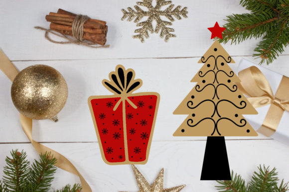 Download Free Christmas Clipart Christmas Overlays Graphic By Happy Printables Club Creative Fabrica for Cricut Explore, Silhouette and other cutting machines.
