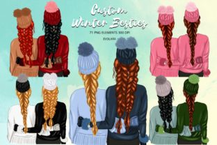Download Free Custom Winter Besties Clipart Graphic By Evolara Creative Fabrica for Cricut Explore, Silhouette and other cutting machines.