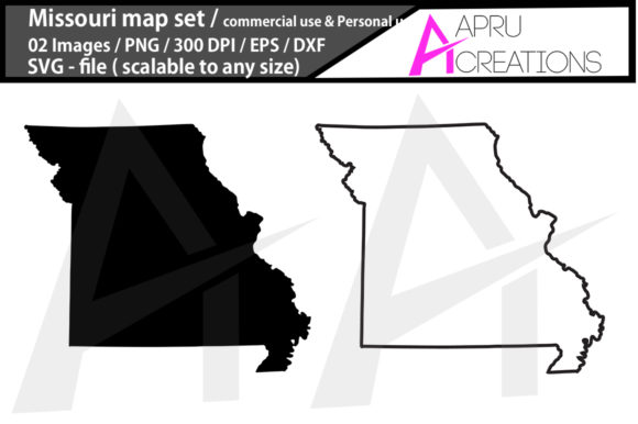 Print on Demand: Missouri Map Missouri Map Outline Graphic Icons By aparnastjp