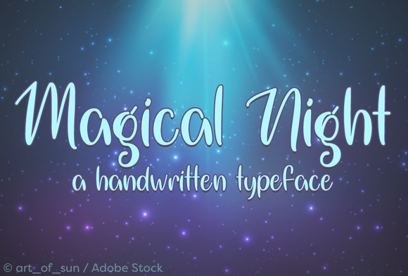 Magical Night Script & Handwritten Font By Misti