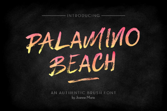 Print on Demand: Palamino Beach Display Font By joanne.hewitt