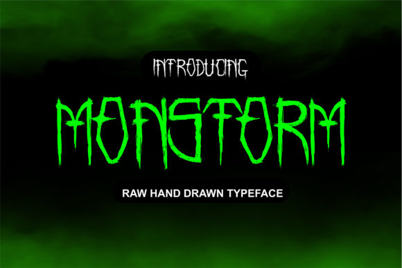 Print on Demand: Monstorm Display Font By fadhil figuree