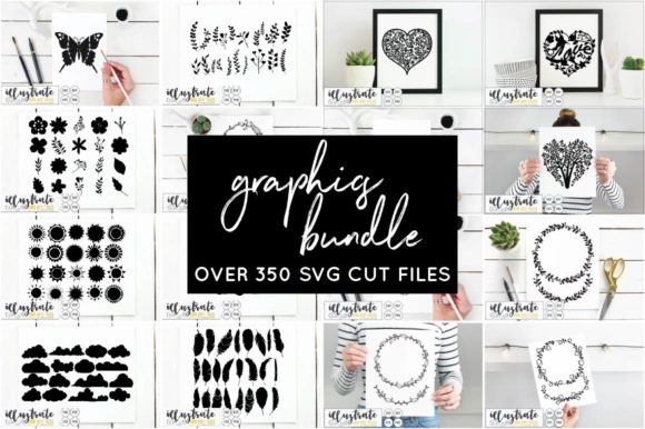 Print on Demand: Graphics Bundle Cut Files Graphic Crafts By illuztrate