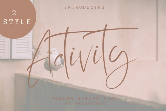Activity Script & Handwritten Font By Arendxstudio
