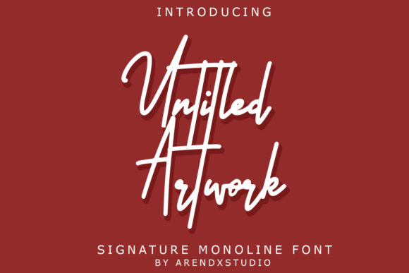 Untitled Artwork Script & Handwritten Font By Arendxstudio