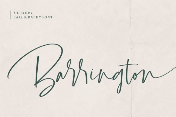 Print on Demand: Barrington Script & Handwritten Font By Balpirick