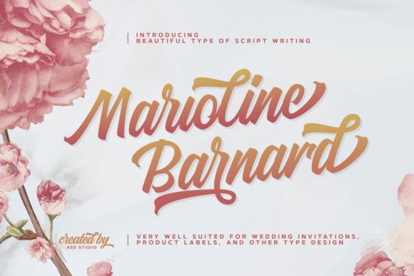 Print on Demand: Marioline Barnard Script & Handwritten Font By studioashshiddiq