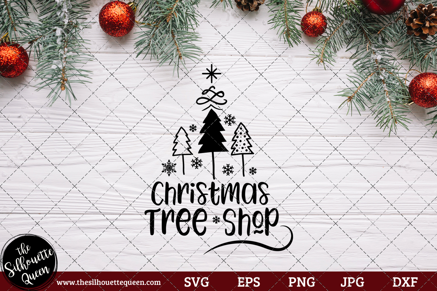 Download Free Christmas Tree Shop Saying Graphic By Thesilhouettequeenshop Creative Fabrica for Cricut Explore, Silhouette and other cutting machines.