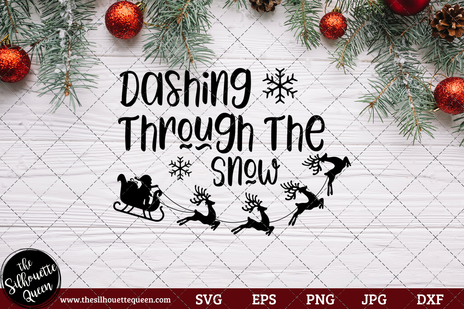 Download Free Dashing Through The Snow Saying Graphic By for Cricut Explore, Silhouette and other cutting machines.