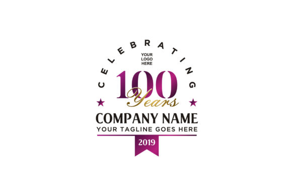 Print on Demand: Anniversary 100th Celebrate Company Logo Graphic Logos By Enola99d