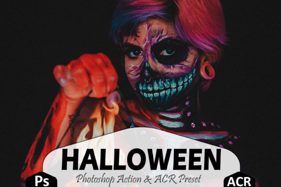 Download Free Halloween Photoshop Actions And Acr Graphic By Mattte Studio for Cricut Explore, Silhouette and other cutting machines.