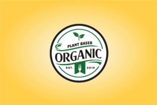 Download Free Fork Leaf Organic Food Circle Label Logo Graphic By Enola99d for Cricut Explore, Silhouette and other cutting machines.