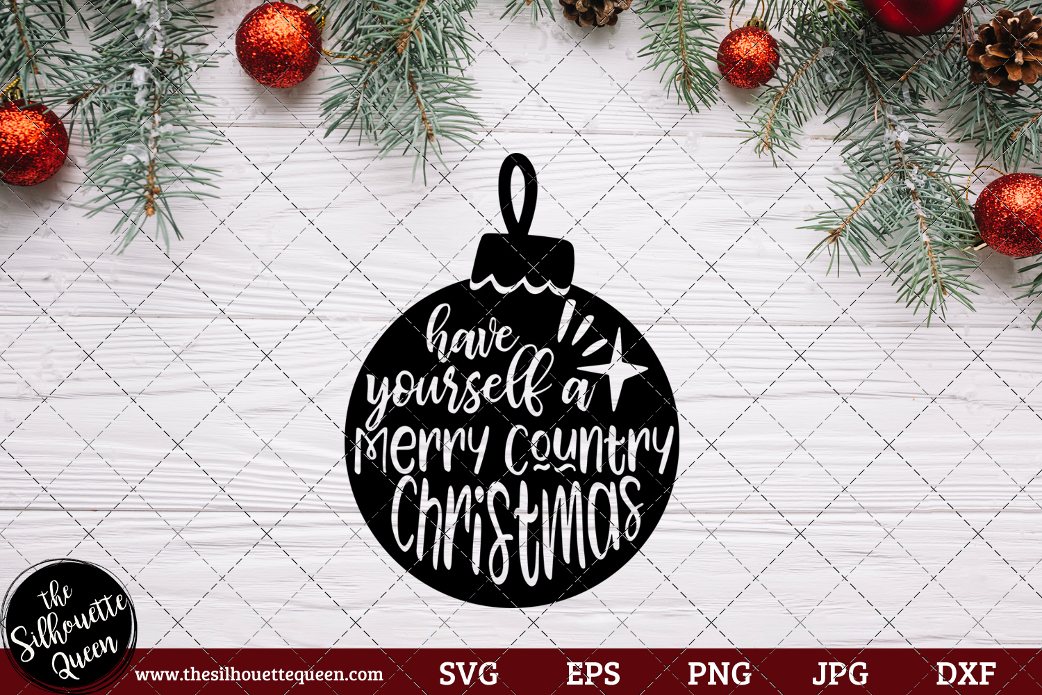 Download Free Have Yourself A Merry Country Christmas Graphic By for Cricut Explore, Silhouette and other cutting machines.