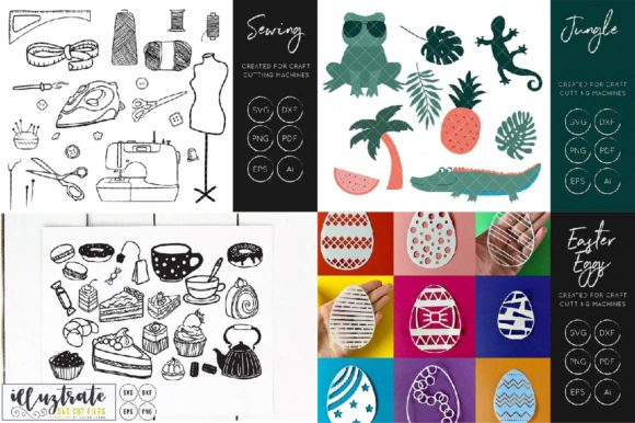 Print on Demand: Graphics Bundle Cut Files Graphic Crafts By illuztrate - Image 9