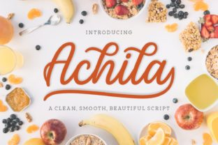 Download Free Achila Font By Situjuh Creative Fabrica for Cricut Explore, Silhouette and other cutting machines.