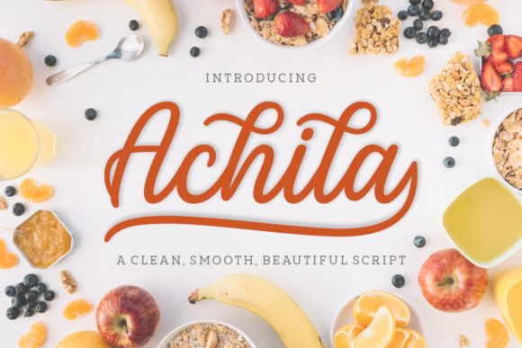 Print on Demand: Achila Script & Handwritten Font By Situjuh