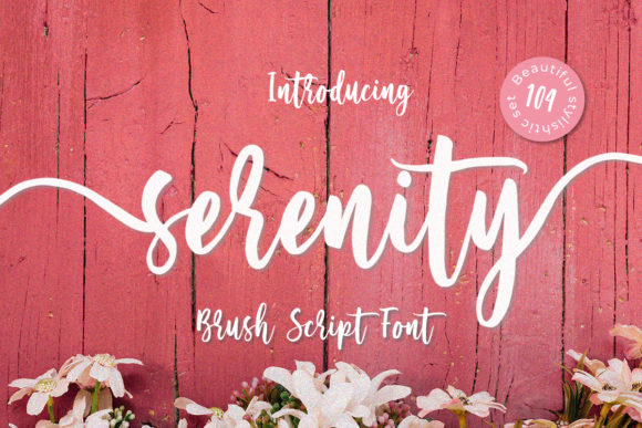 Print on Demand: Serenity Script Script & Handwritten Font By Yumna_Type