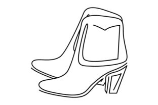 Boots Line Art Beauty & Fashion Craft Cut File By Creative Fabrica Crafts