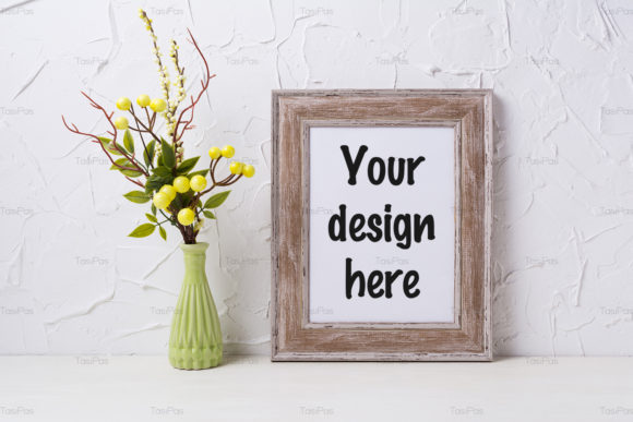 Print on Demand: Rustic Wooden Frame Mockup Graphic Product Mockups By TasiPas - Image 3