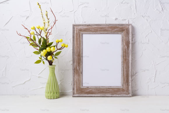 Print on Demand: Rustic Wooden Frame Mockup Graphic Product Mockups By TasiPas - Image 4