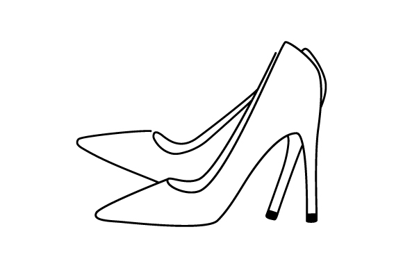 Download Free High Heels Line Art Svg Cut File By Creative Fabrica Crafts for Cricut Explore, Silhouette and other cutting machines.
