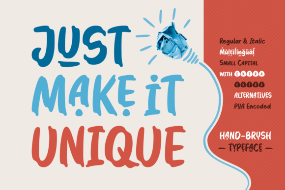 Just Make It Unique Display Font By Situjuh