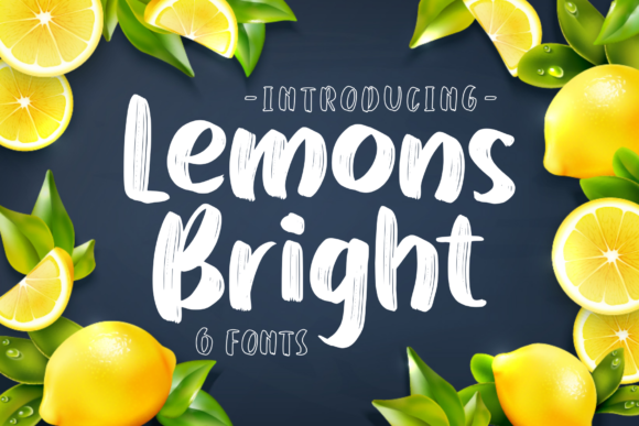 Print on Demand: Lemons Bright Display Font By Abodaniel