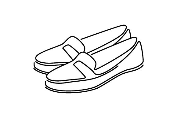 Loafers Line Art Craft Design By Creative Fabrica Crafts