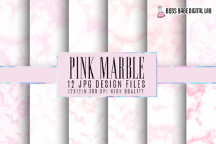 Pink Marble Digital Papers Graphic By bossbabedigitallab
