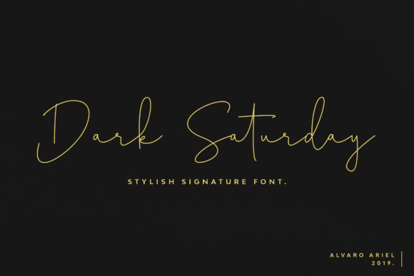 Print on Demand: Dark Saturday Script & Handwritten Font By arielzalv4ro
