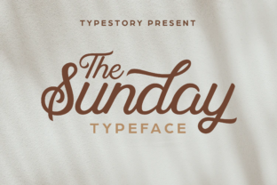 The Sunday Script & Handwritten Font By Typestory